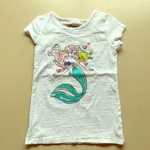 Disney Ariel White Tee - EUC